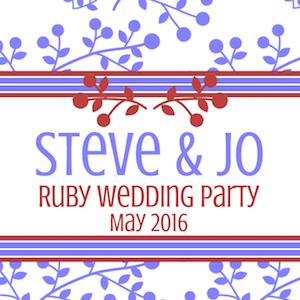 Steve & Jo's Ruby Wedding Party
