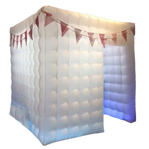 image of white inflatable booth