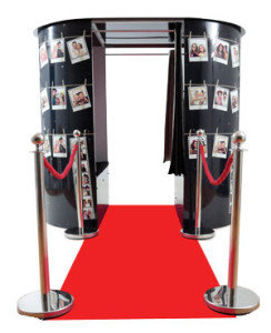 image of photo booth with vip red carpet