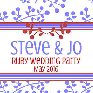 Steve & Jo's Ruby Wedding Party